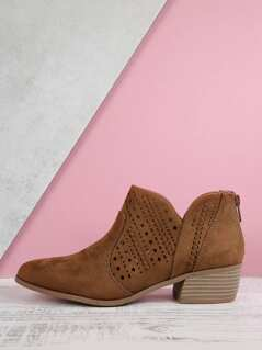 Laser Cut Out Booties