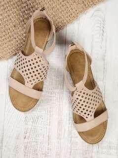 Laser Cut Out Sandals