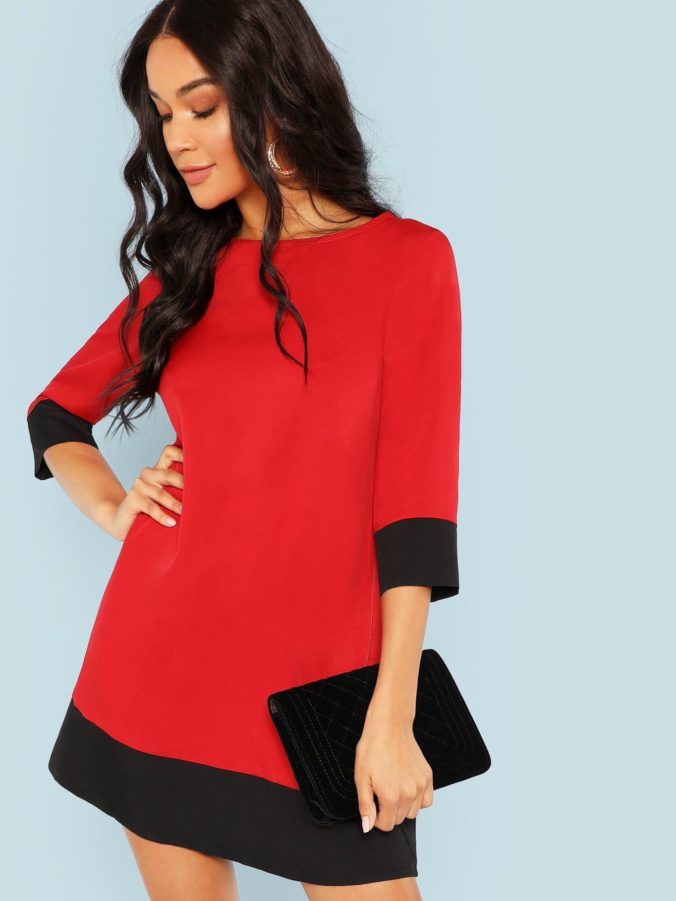 Купить Контрастное облегающее туника платье, Juliette, SheIn