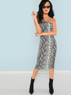 Metallic Leopard Tube Dress