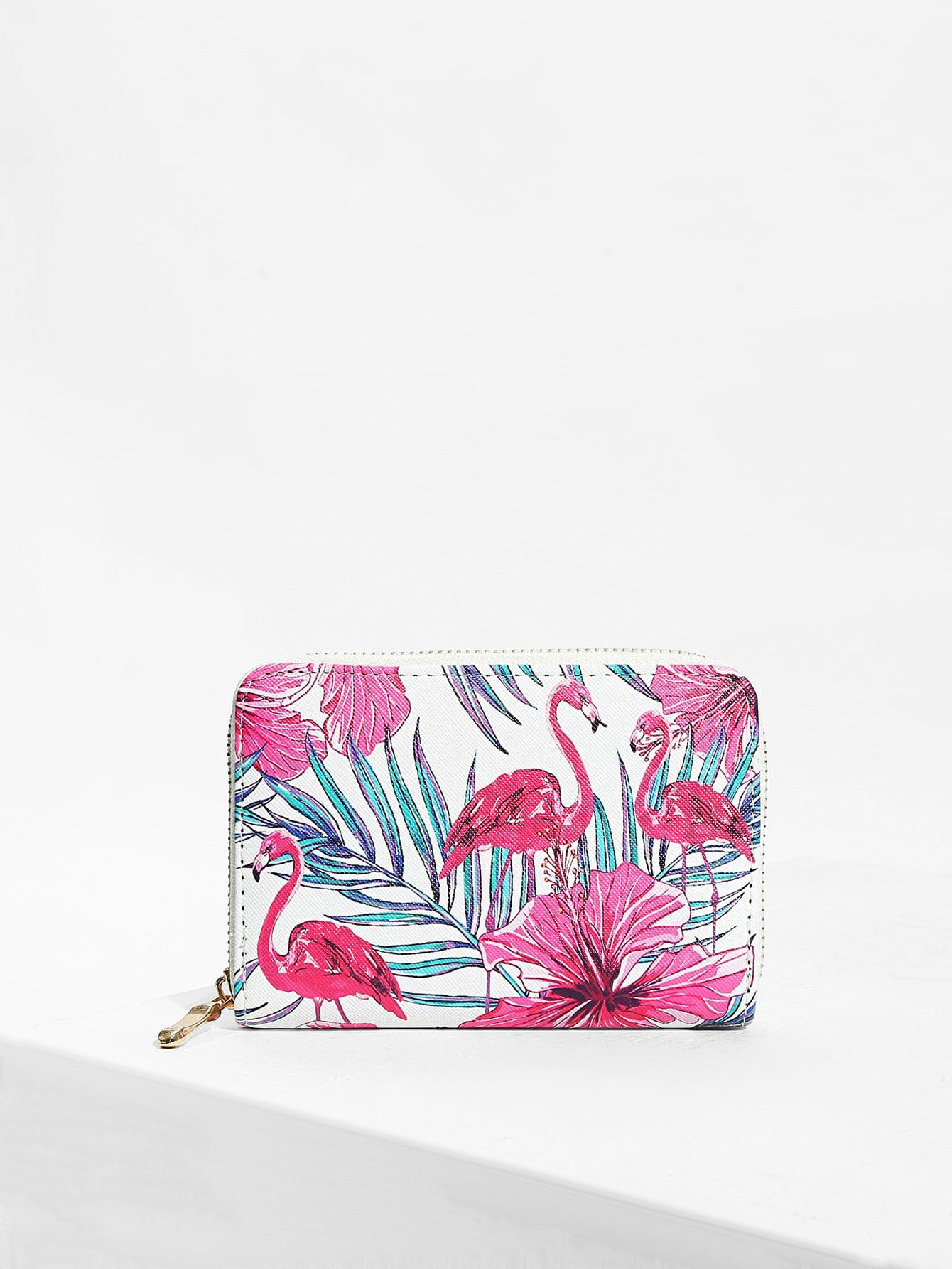 Flamingo And Flower Print Purse philips d2301b 51