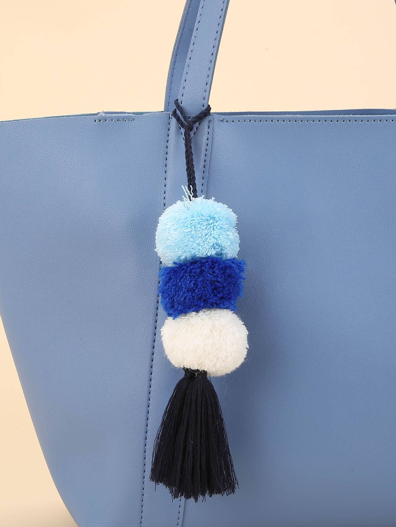 Pom Tassel Detail Bag Accessory
