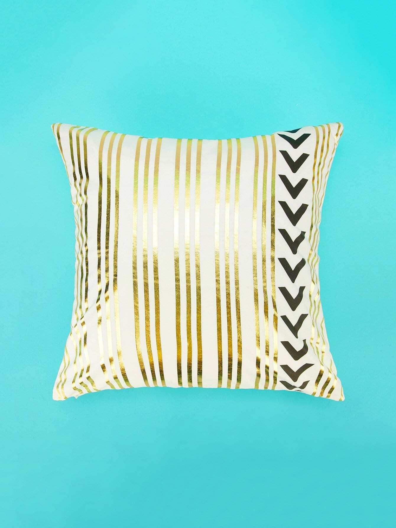 Striped Print Pillowcase Cover 1PC