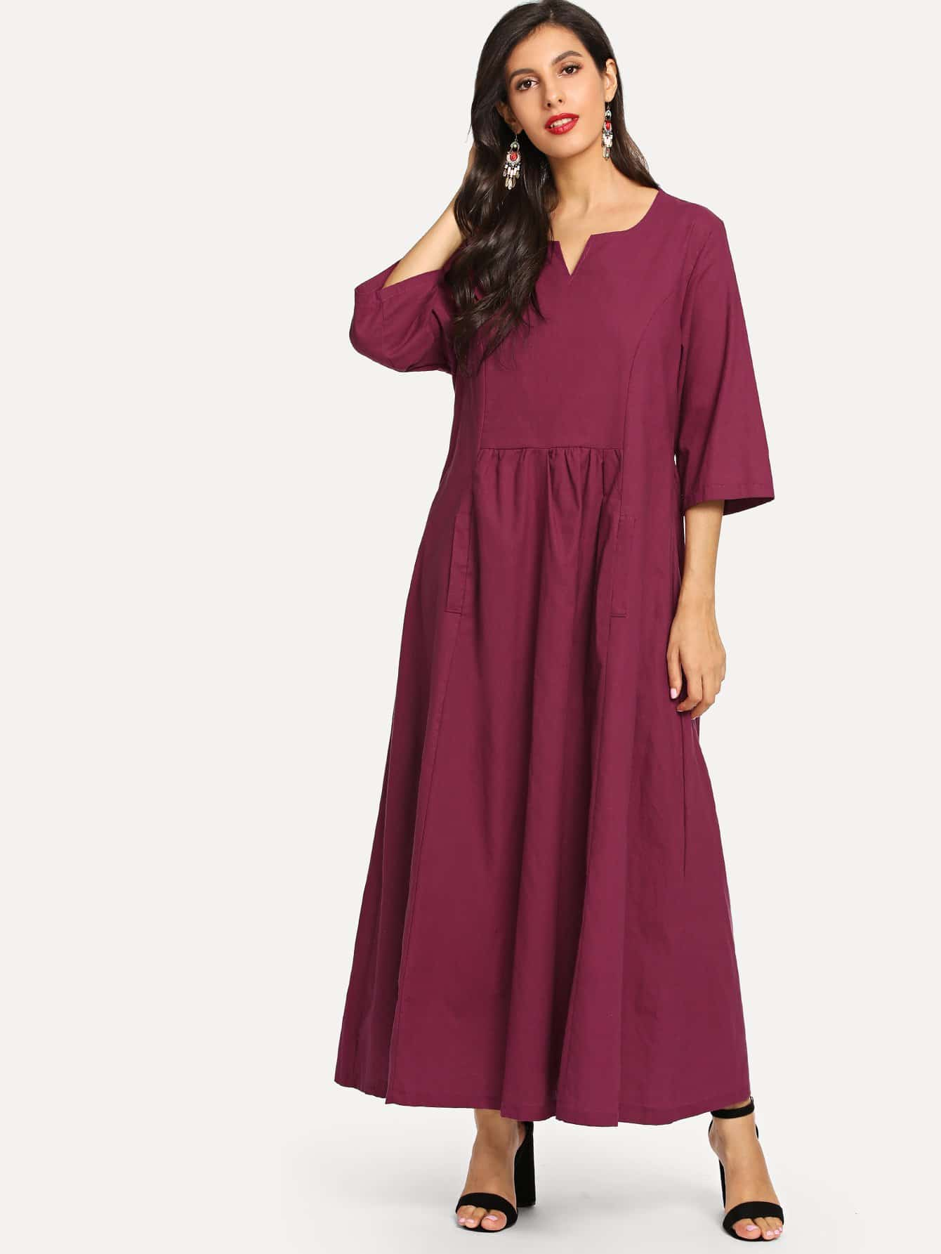 V Neck Half Sleeve Dress