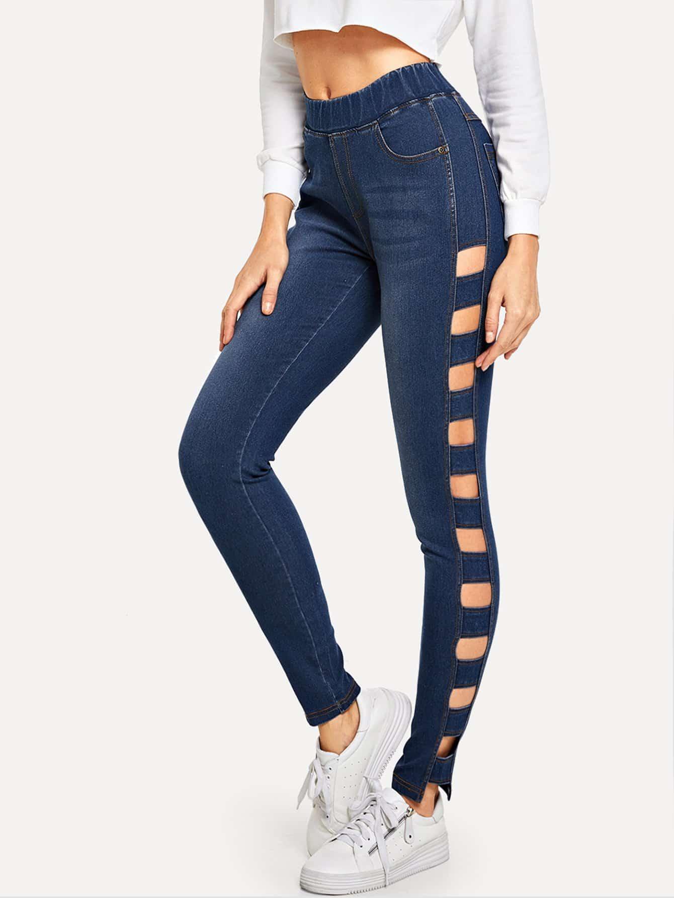 Купить Облегающие кроп-джинсы, Masha, SheIn