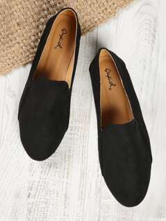 Faux Suede Slip On Loafers