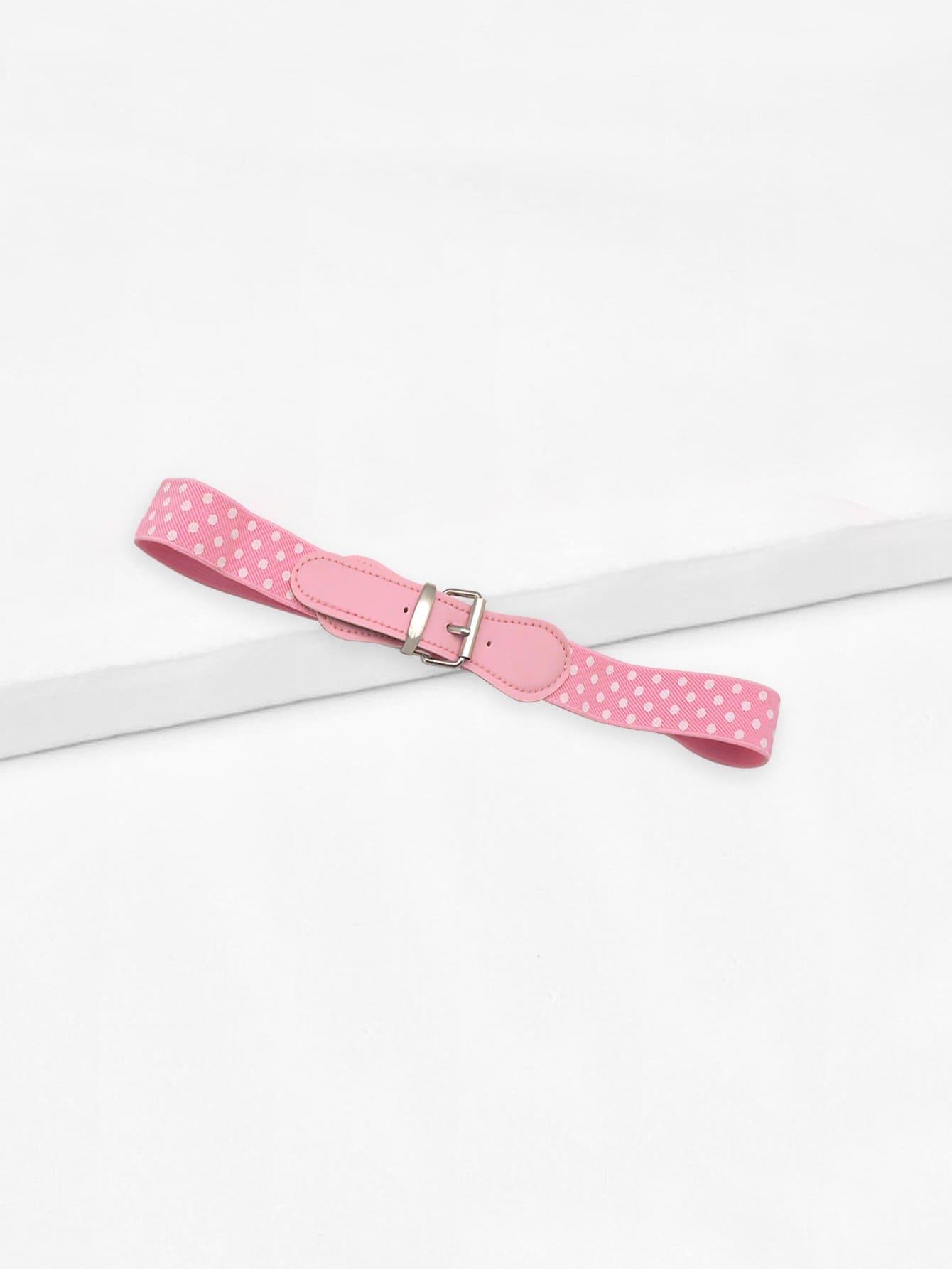 Girls Polka Dot Elastic Belt