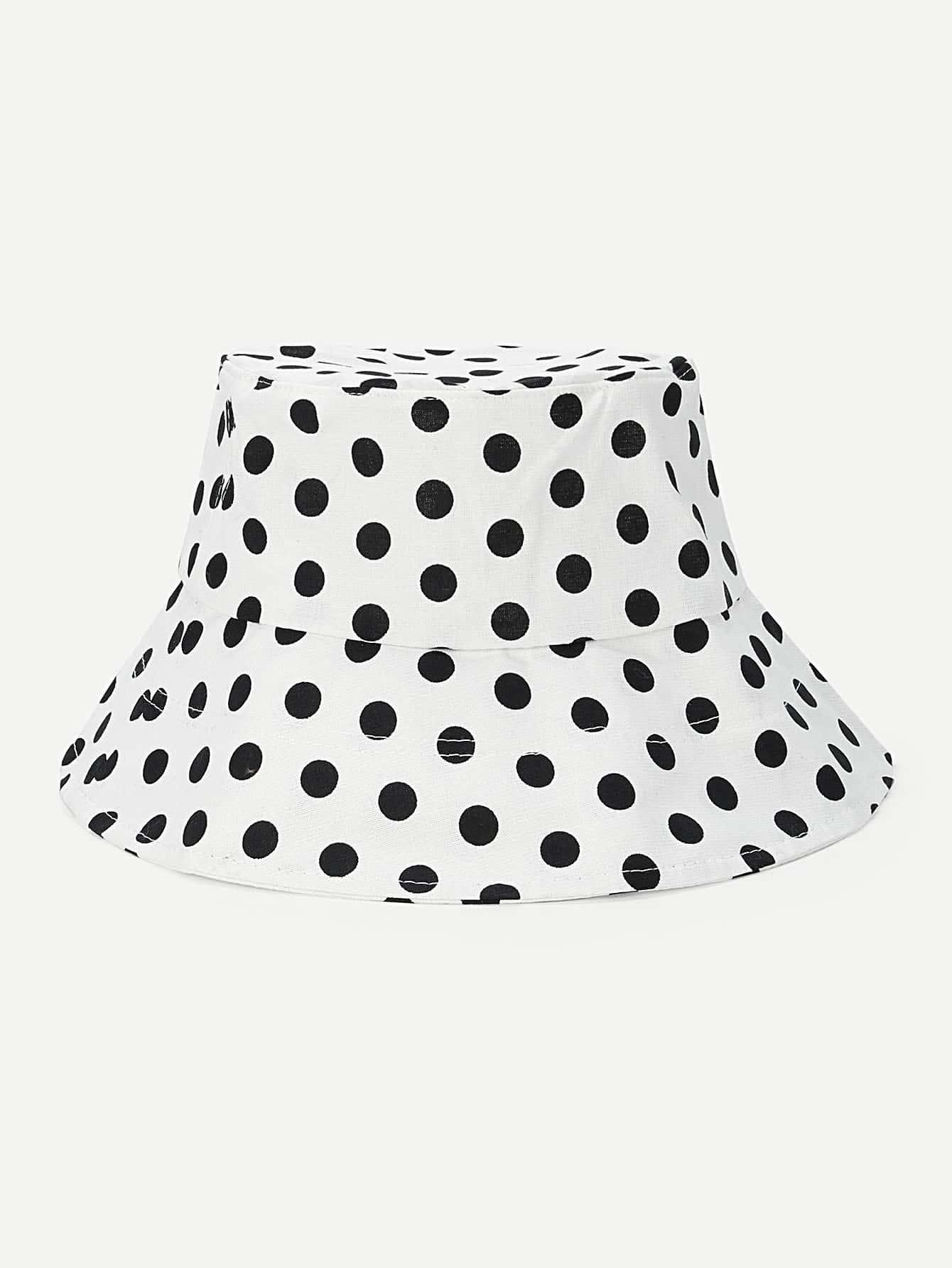 Купить Круглая шляпа с рисунками точки польки, null, SheIn