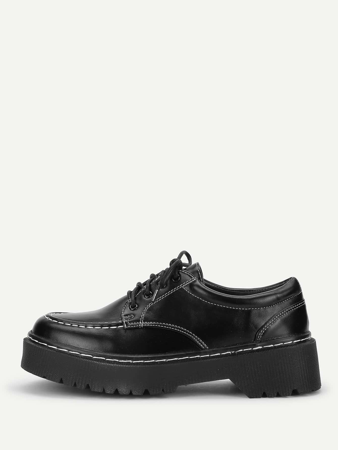 Купить Рубашечные туфли на танкетке с шнурками, null, SheIn