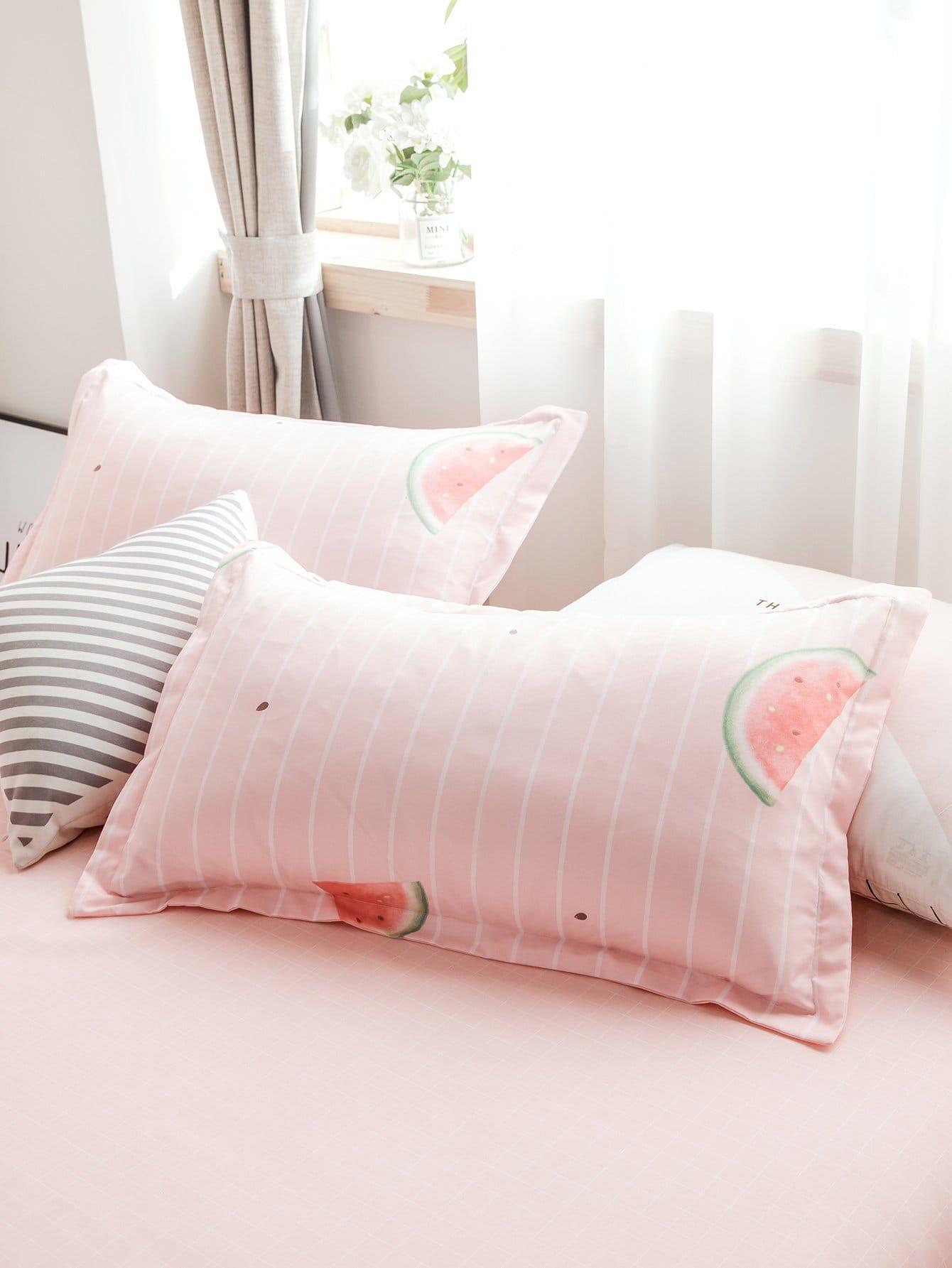 Kissenbezug 1 Paar mit Wassermelone und Streifen Muster