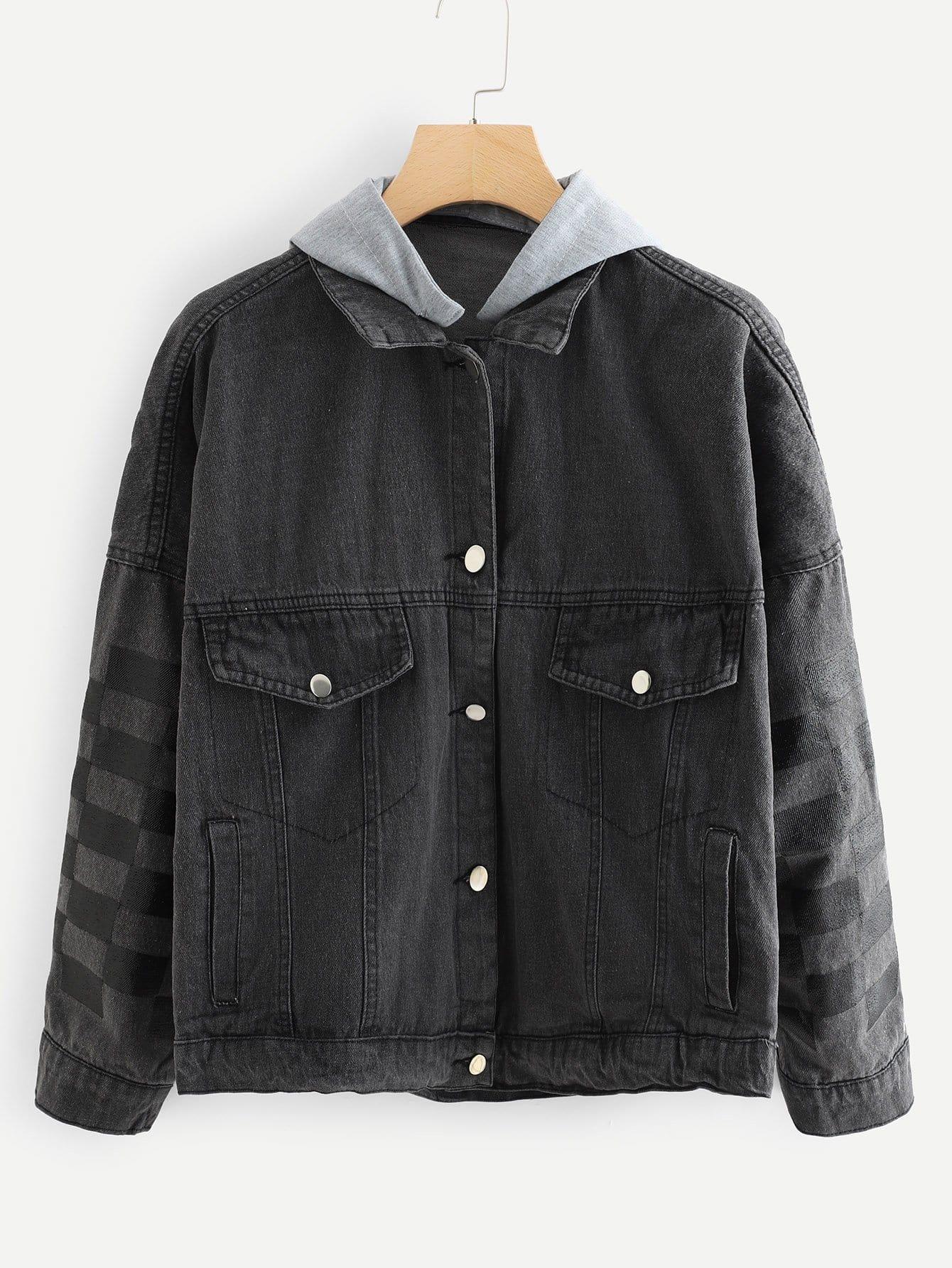 Jeans Jacke mit Kapuze