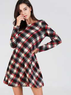 Plaid Tunic Dress