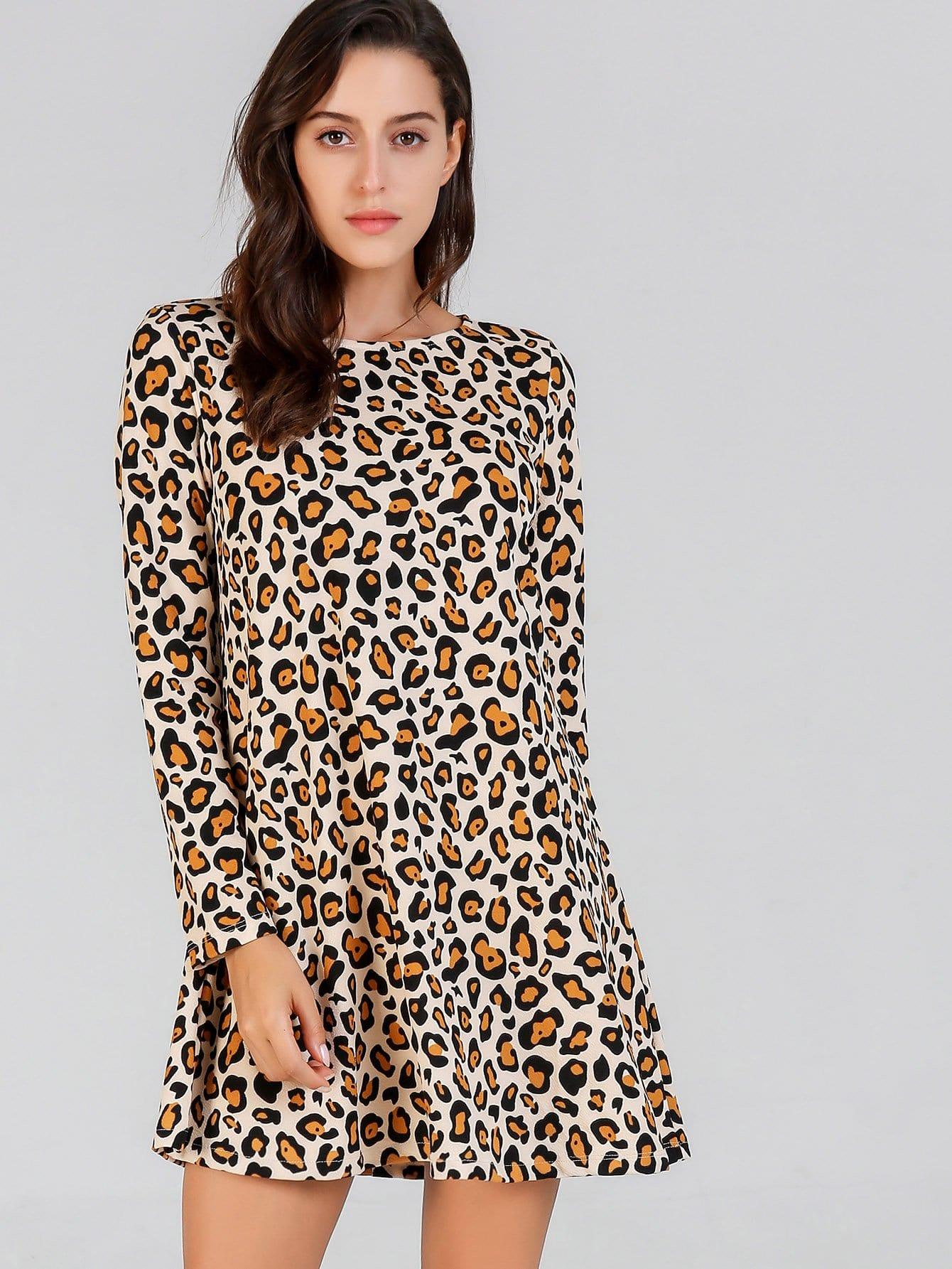 Купить Платье для маникюра Leopard, Mary P., SheIn