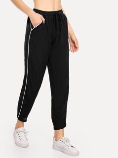Slant Pocket Striped Side Pants
