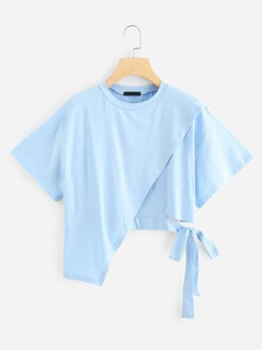 Asymmetrical Knot Solid Tee