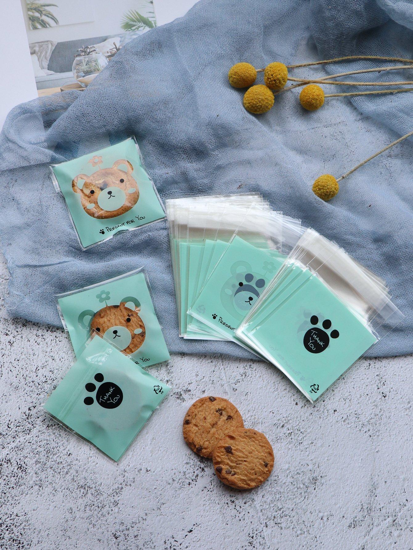 Купить Мешок для печенья с рисунком медведя 100 шт, null, SheIn