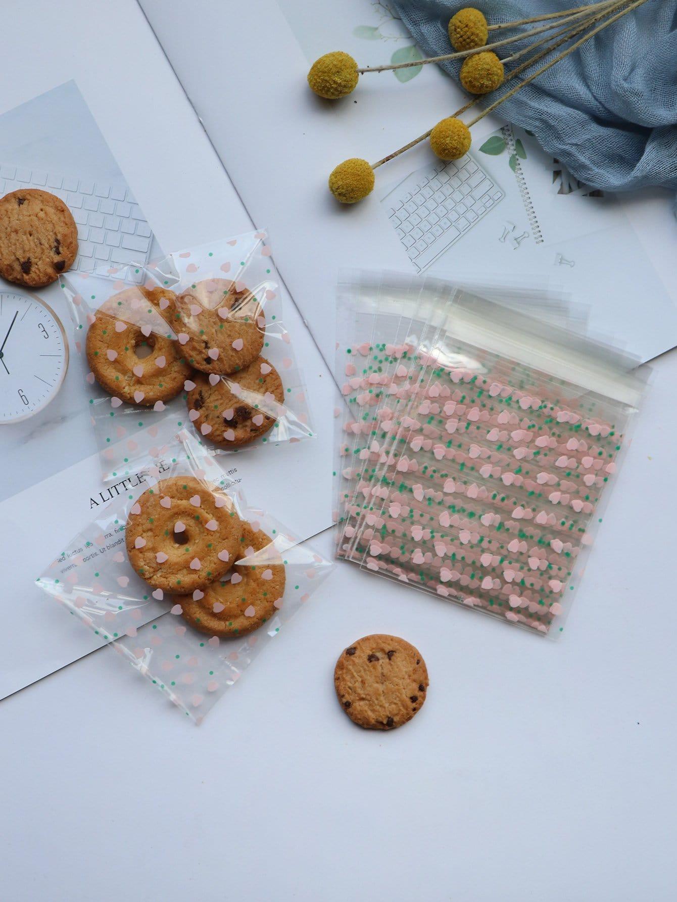 Купить Мешок для печенья с рисунками сердцей 100 шт, null, SheIn