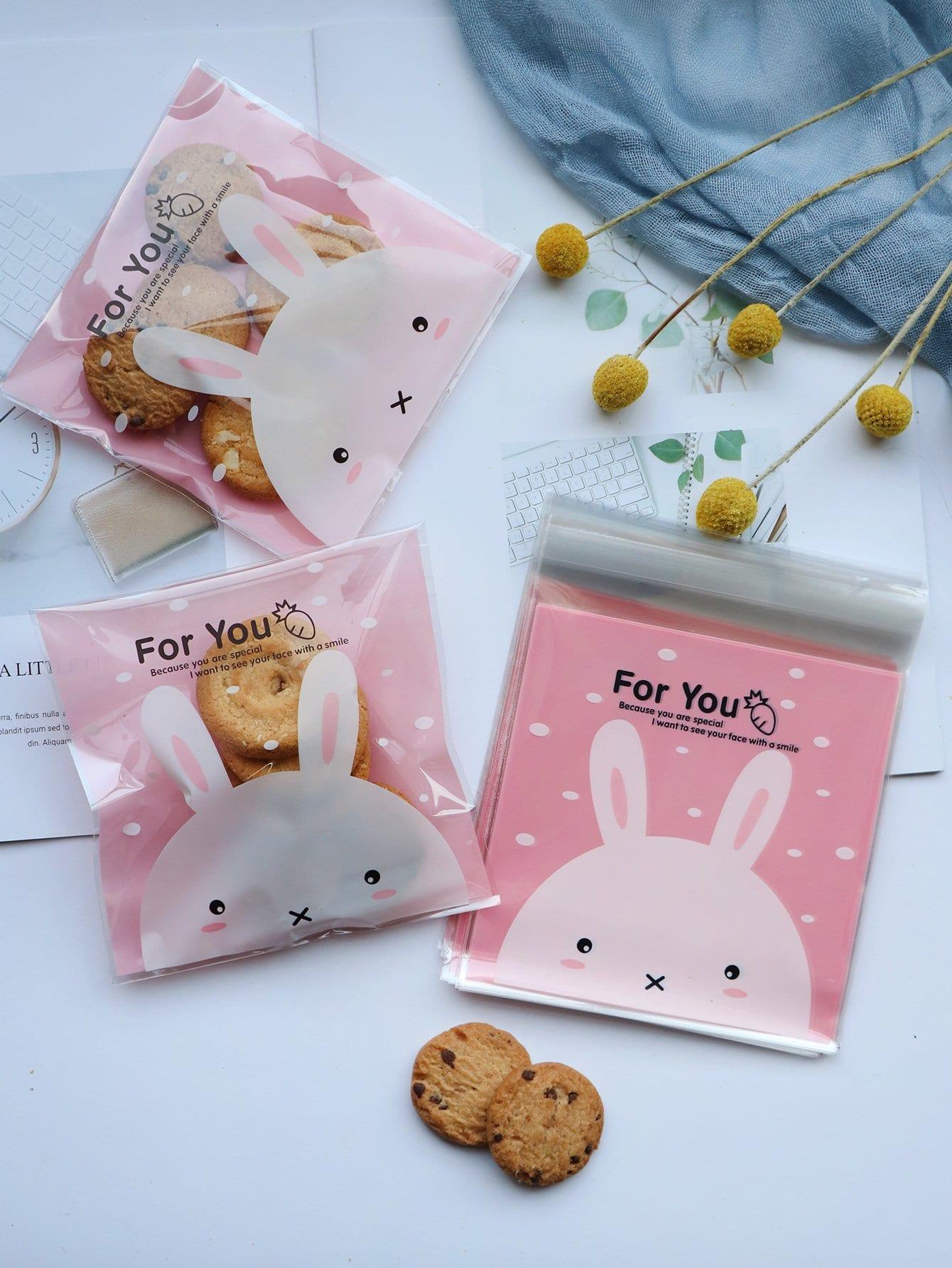 Купить Мешок для печенья с рисунком кролика 100 шт, null, SheIn