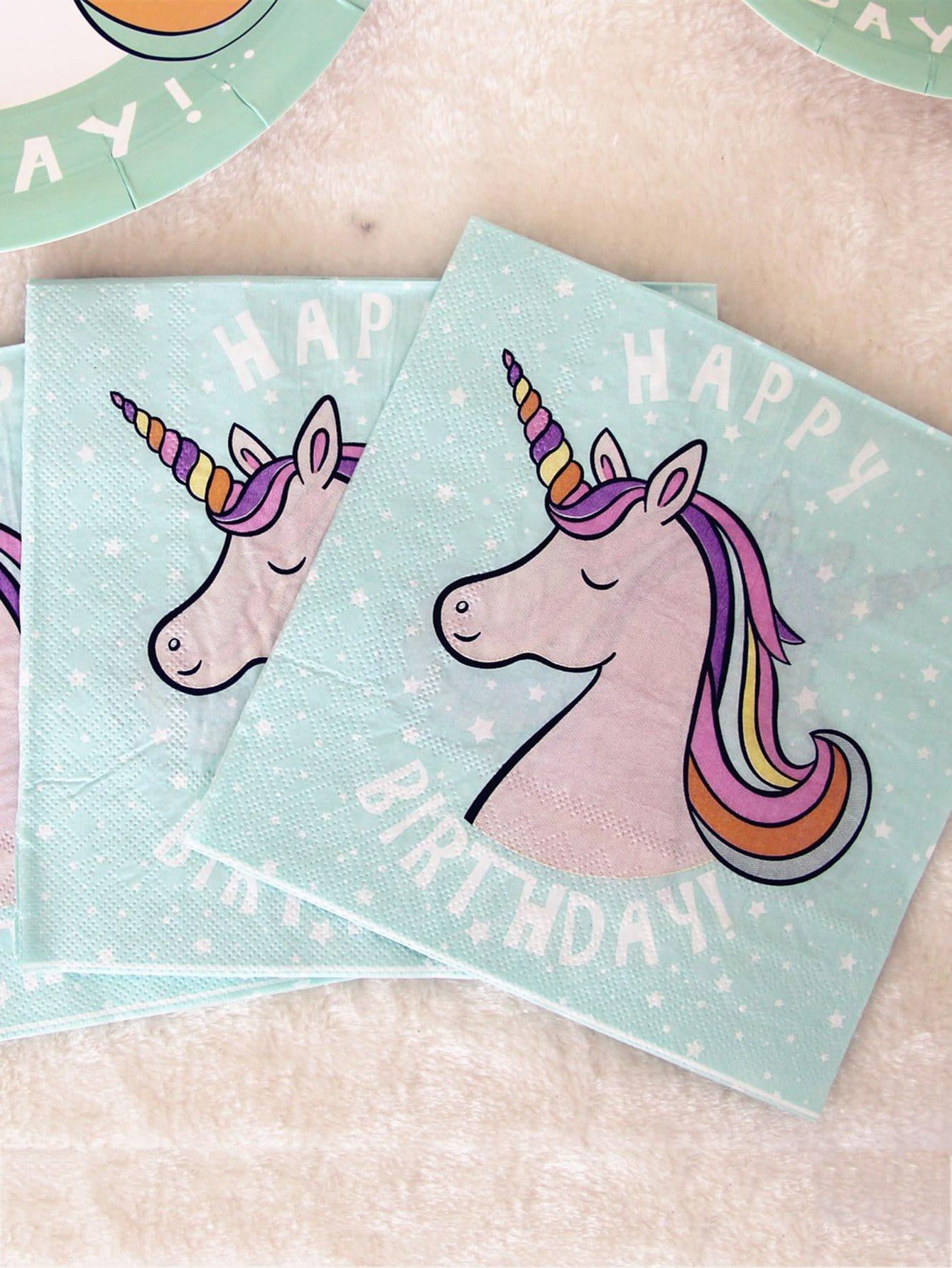 Unicorn Print Tissue 20pcs
