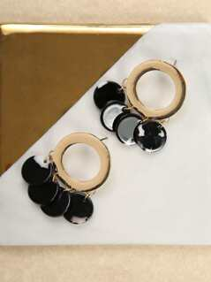 Gold And Acetate Drop Earrings