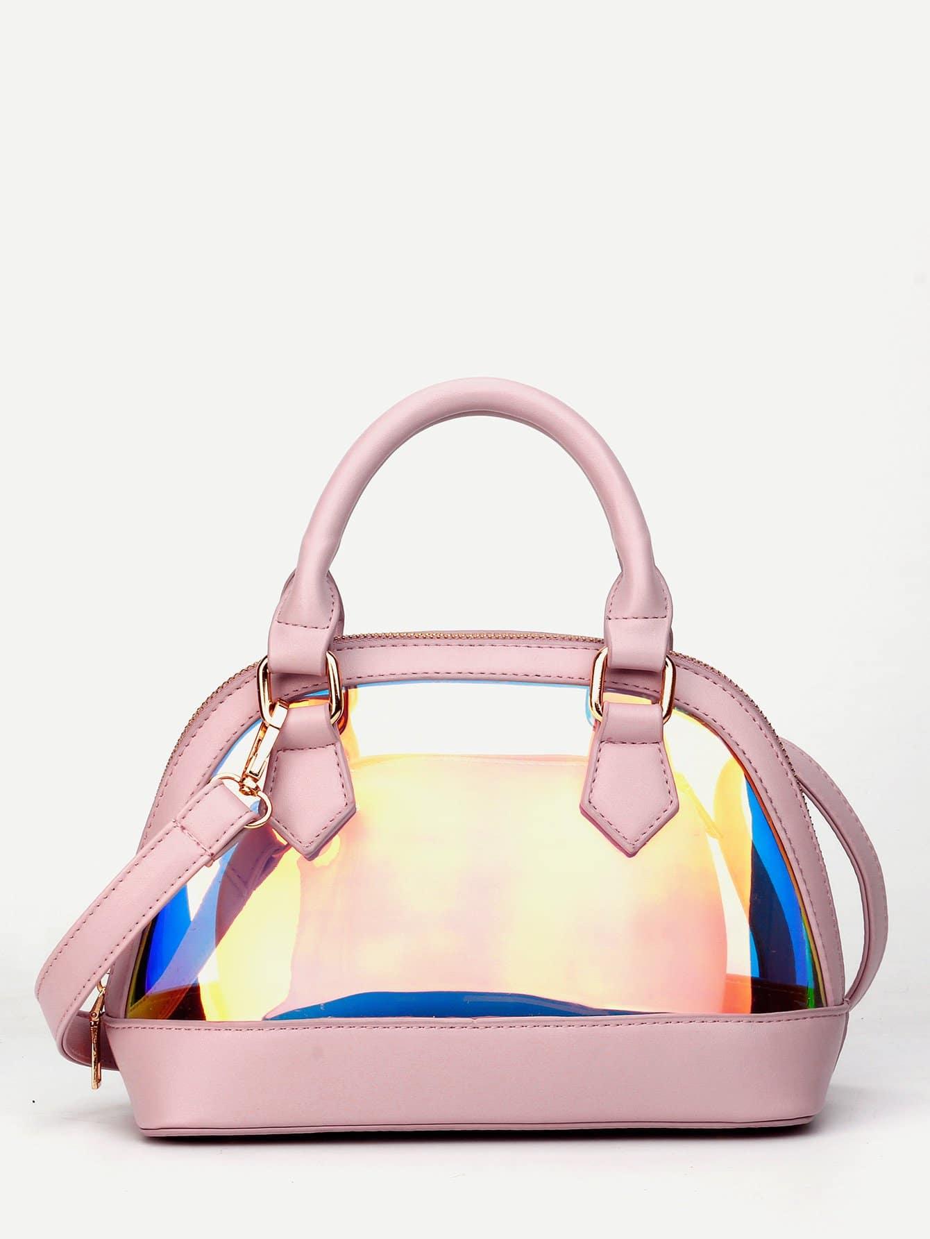 Купить Радужная сумка с мкленькой сумкой, null, SheIn