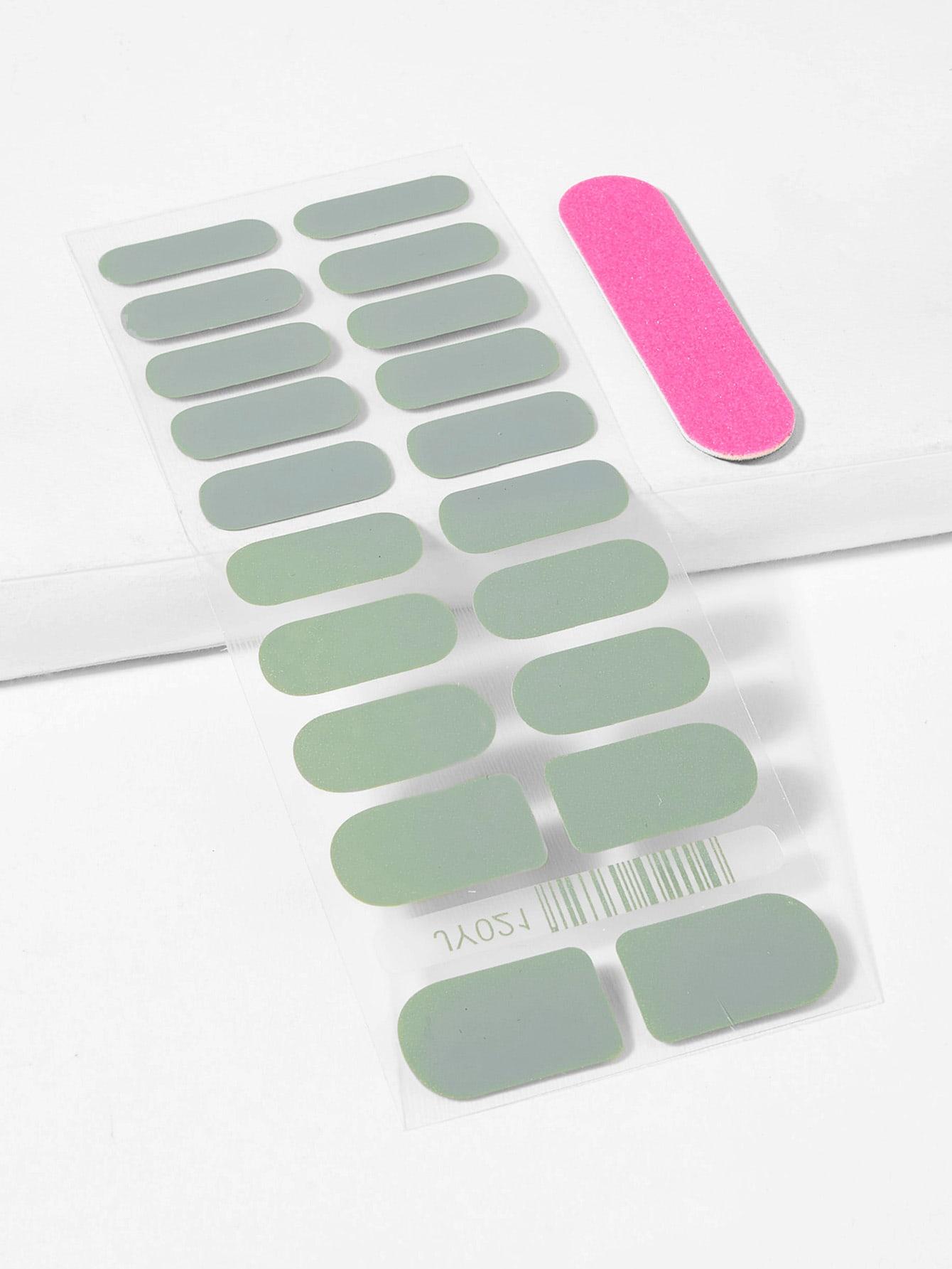 Купить Простая наклейка для ногтей и пилочка для ногтей, null, SheIn