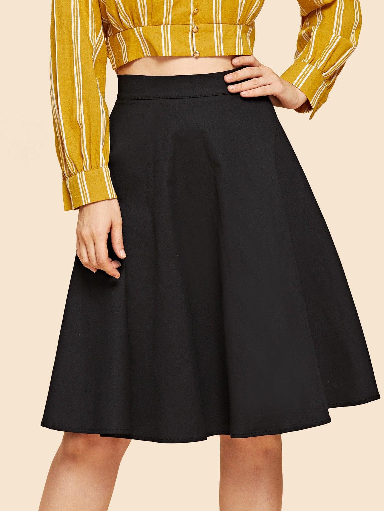 Купить Простая юбка клёш, Julie H., SheIn