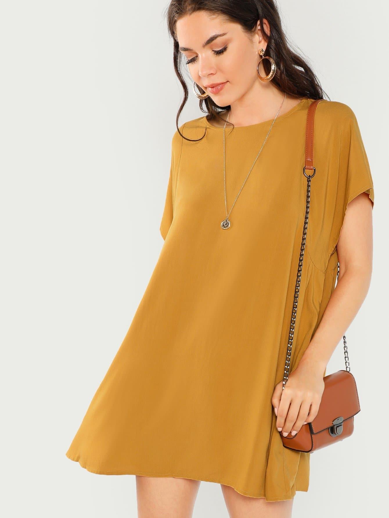 Купить Полосатое платье с карманами, Aarika Wolf, SheIn