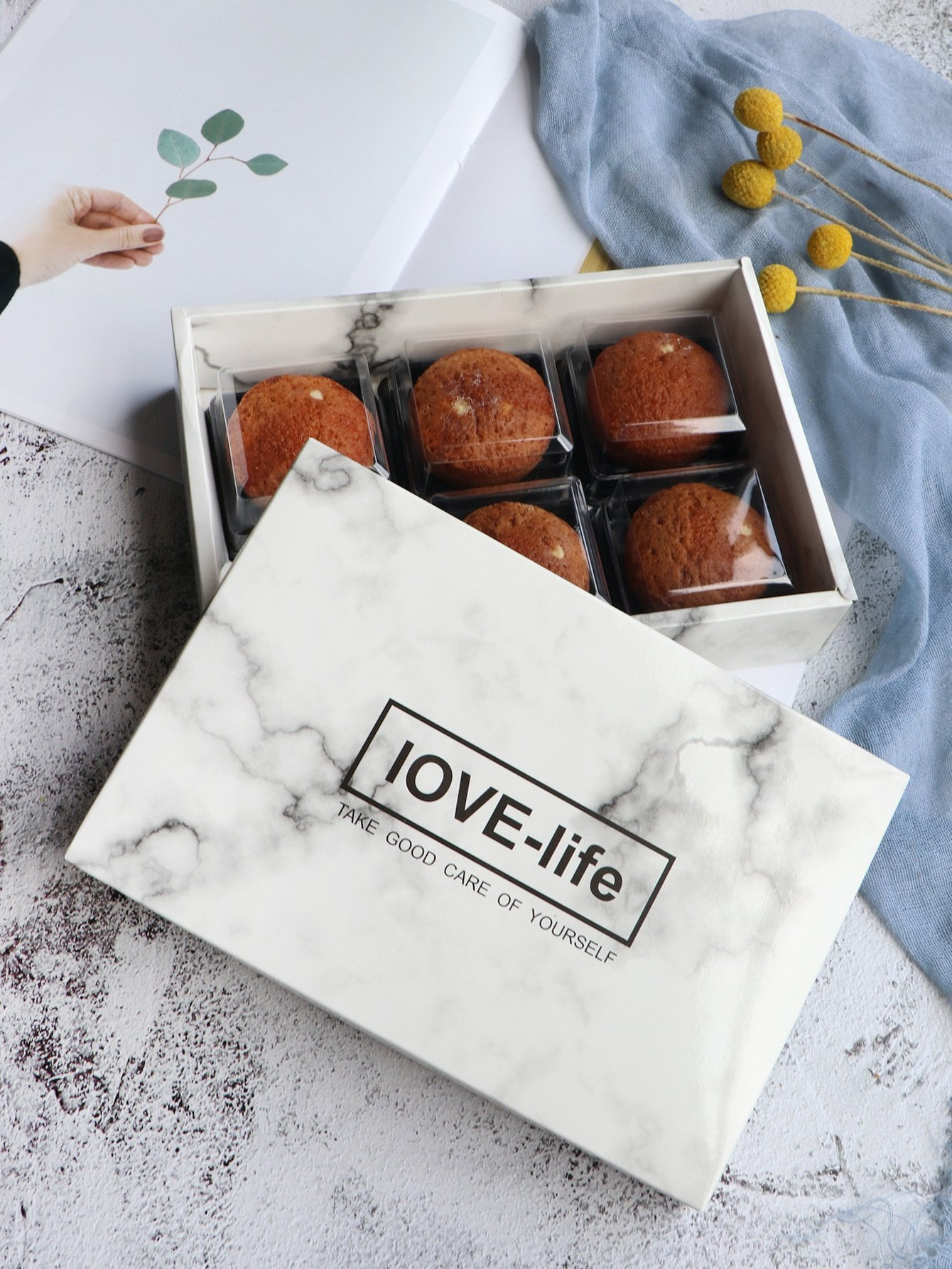 Marble Print Packing Box 1pc