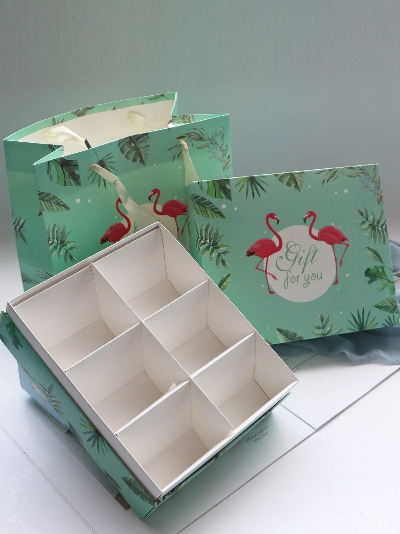 Verpackungsboxen 2PCs mit Papier Tragebox 1PC