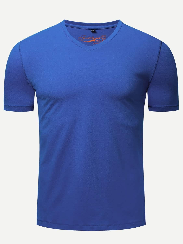 Купить Мужская футболка V-образного выреза, null, SheIn