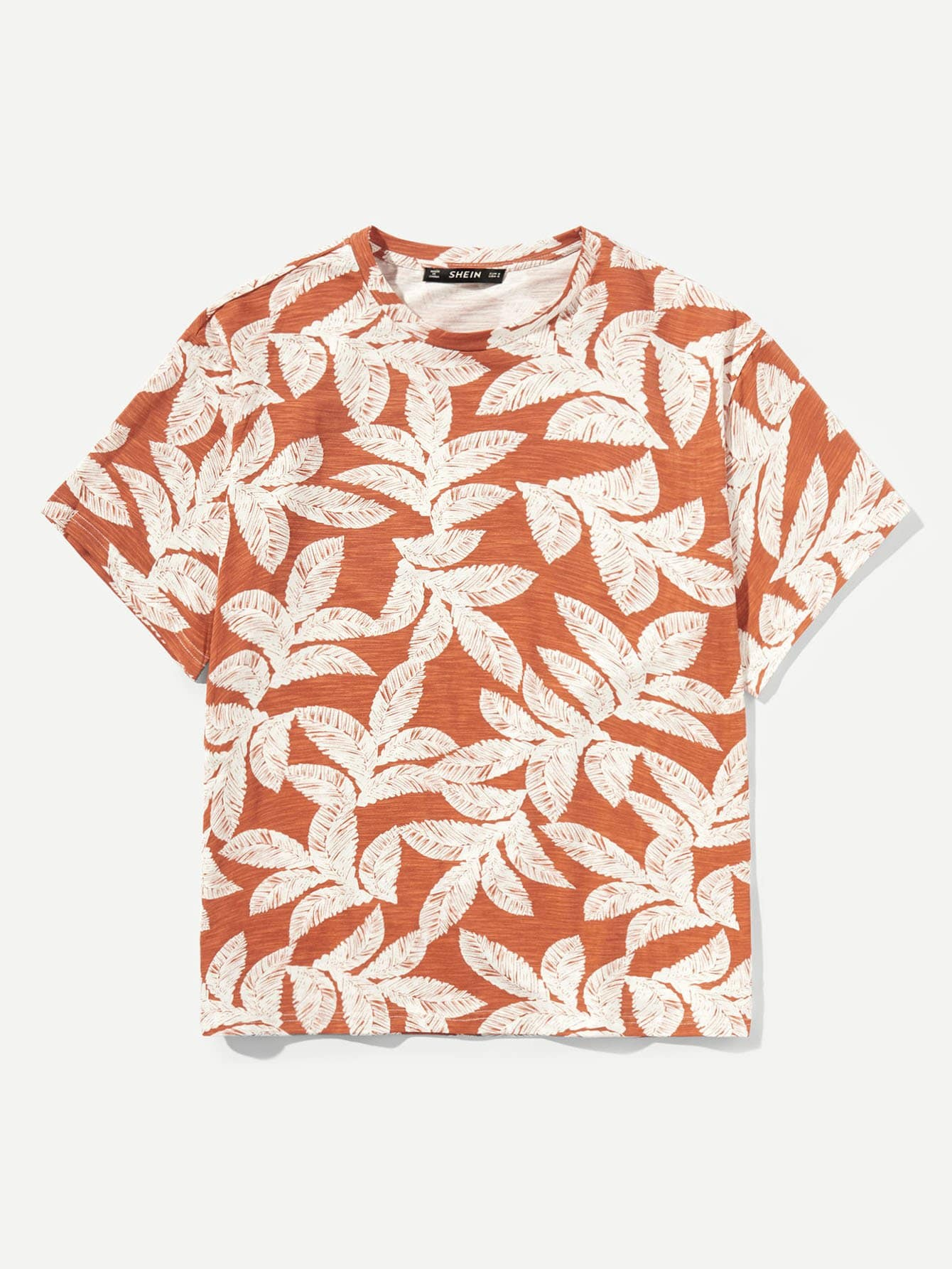Мужчины Allover Leaf Print Tee
