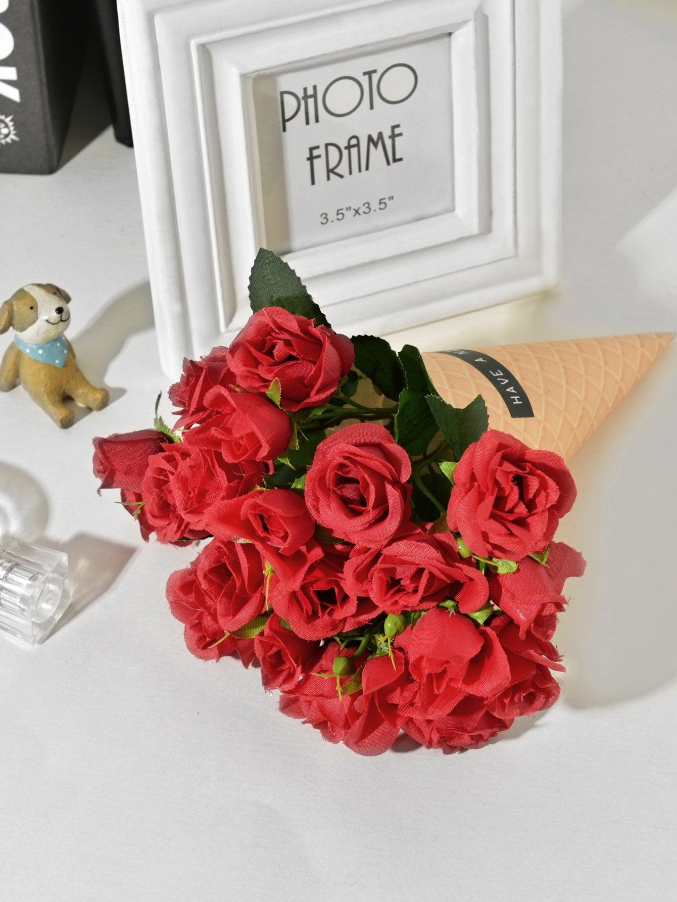 Bouquet de Fleurs artificielles Avec 21pcs Tête