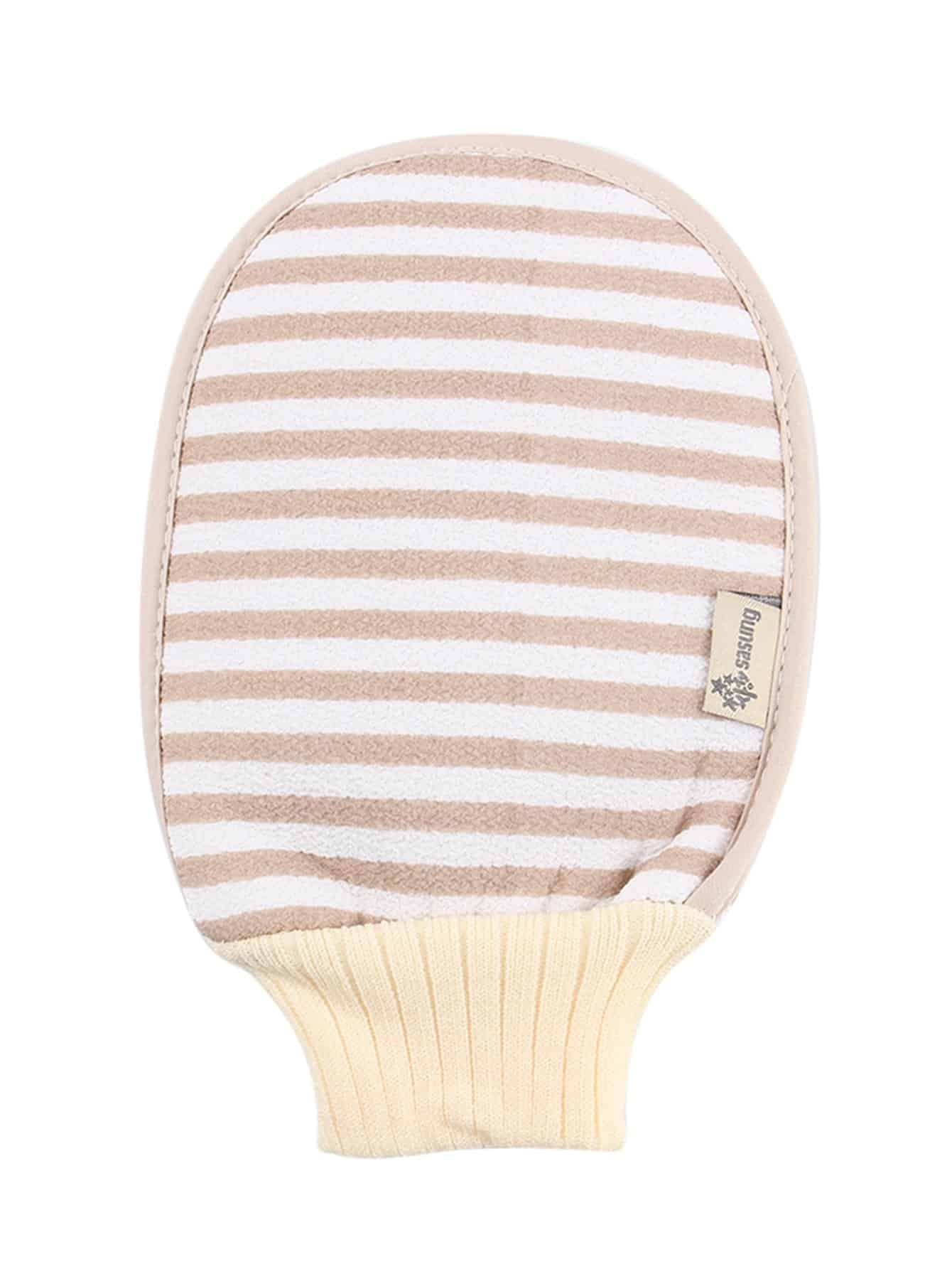 Striped Pattern Exfoliating Bath Glove
