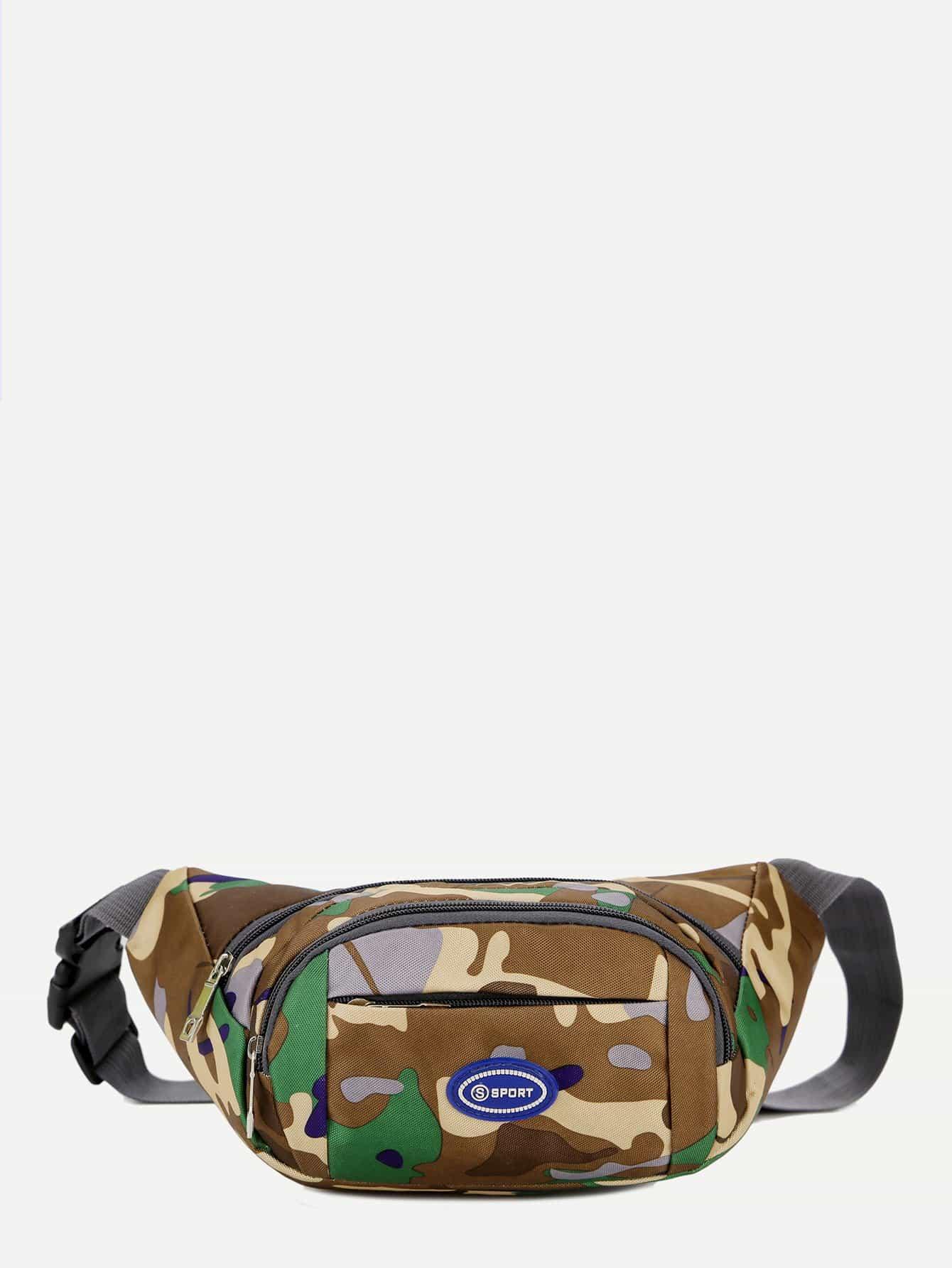 Camouflage Detail Bum Bag camouflage detail bum bag