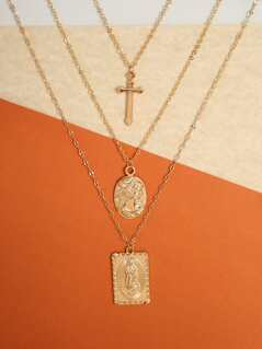 Layered Religious Necklace