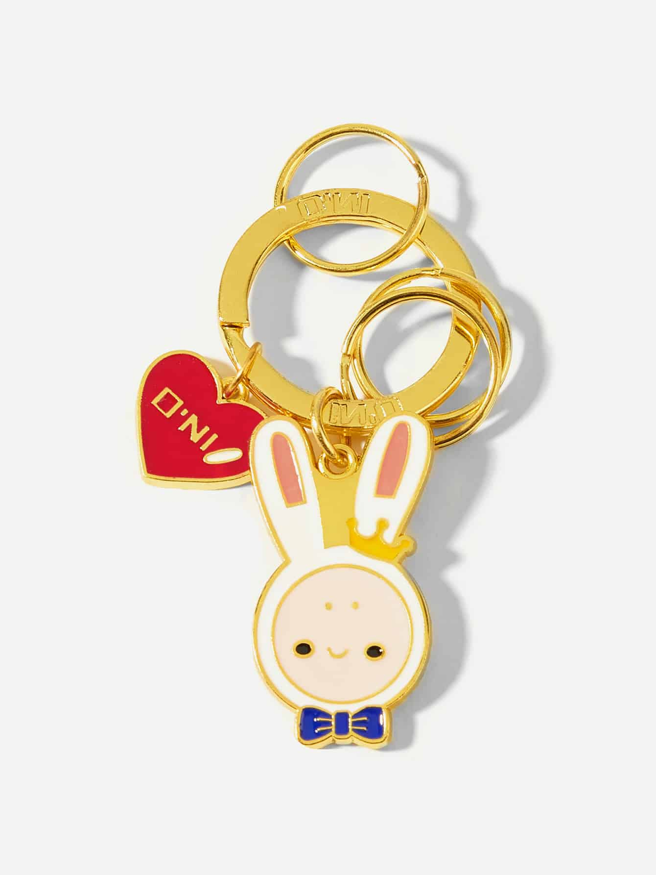 Купить Брелок для ключей с украшением кролика и сердца, null, SheIn