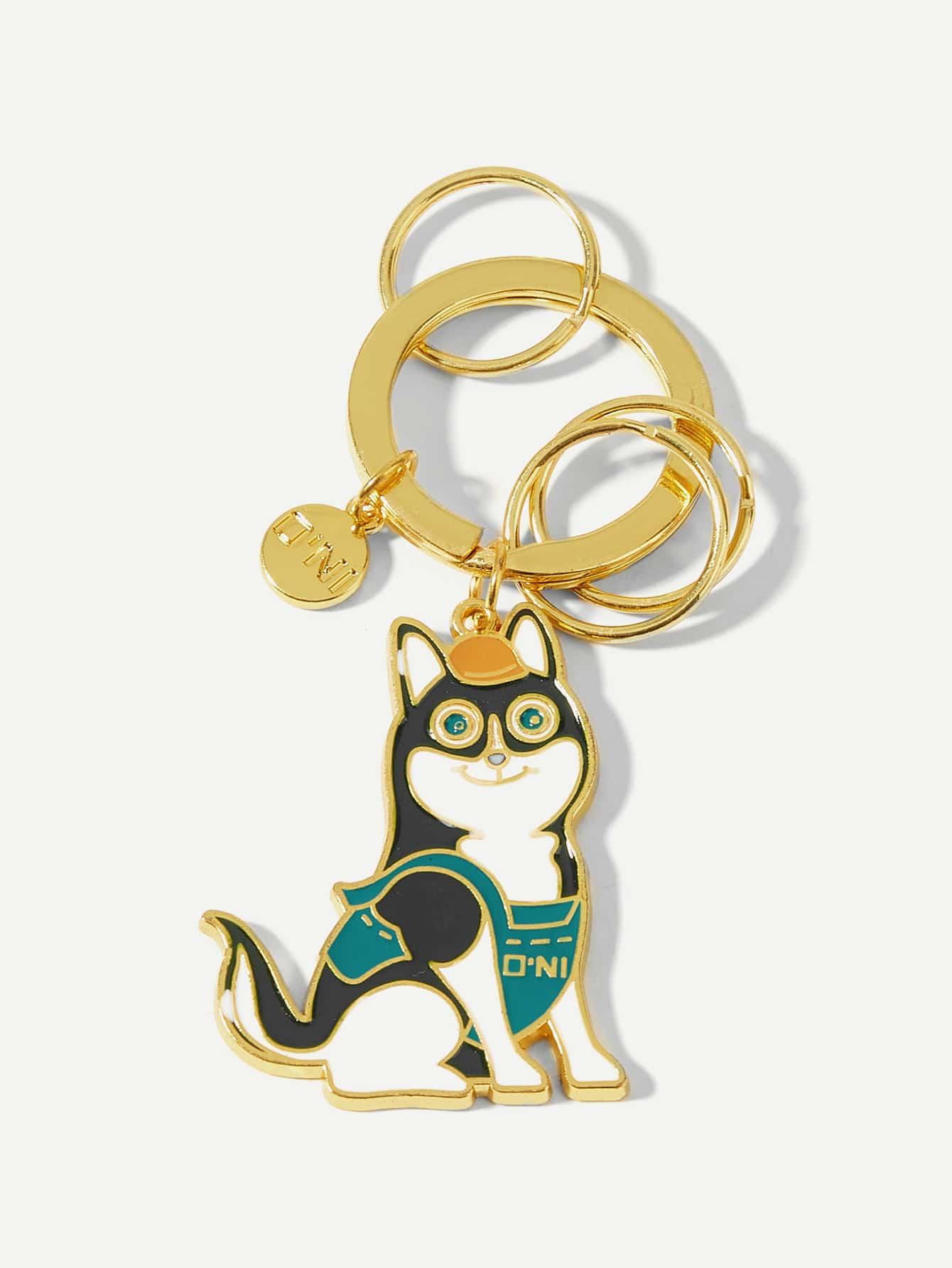 Купить Брелок для ключей с украшением собаки, null, SheIn