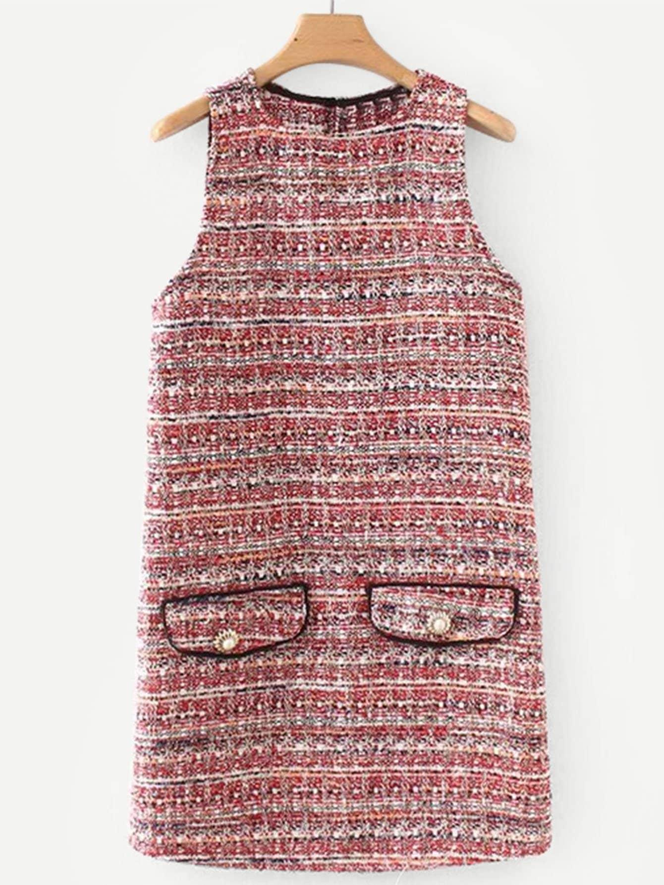 Платье из твида, null, SheIn  - купить со скидкой