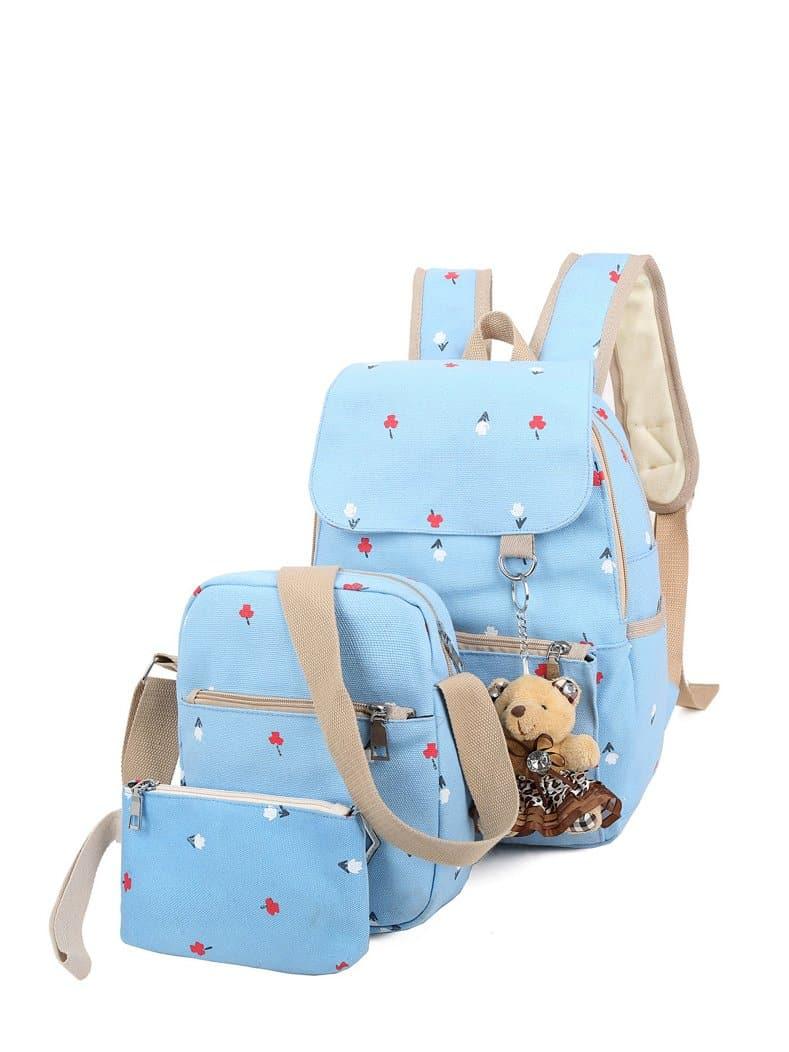 Купить Рюкзак и с украшением медведя и с маленькой сумкой 3 шт, null, SheIn