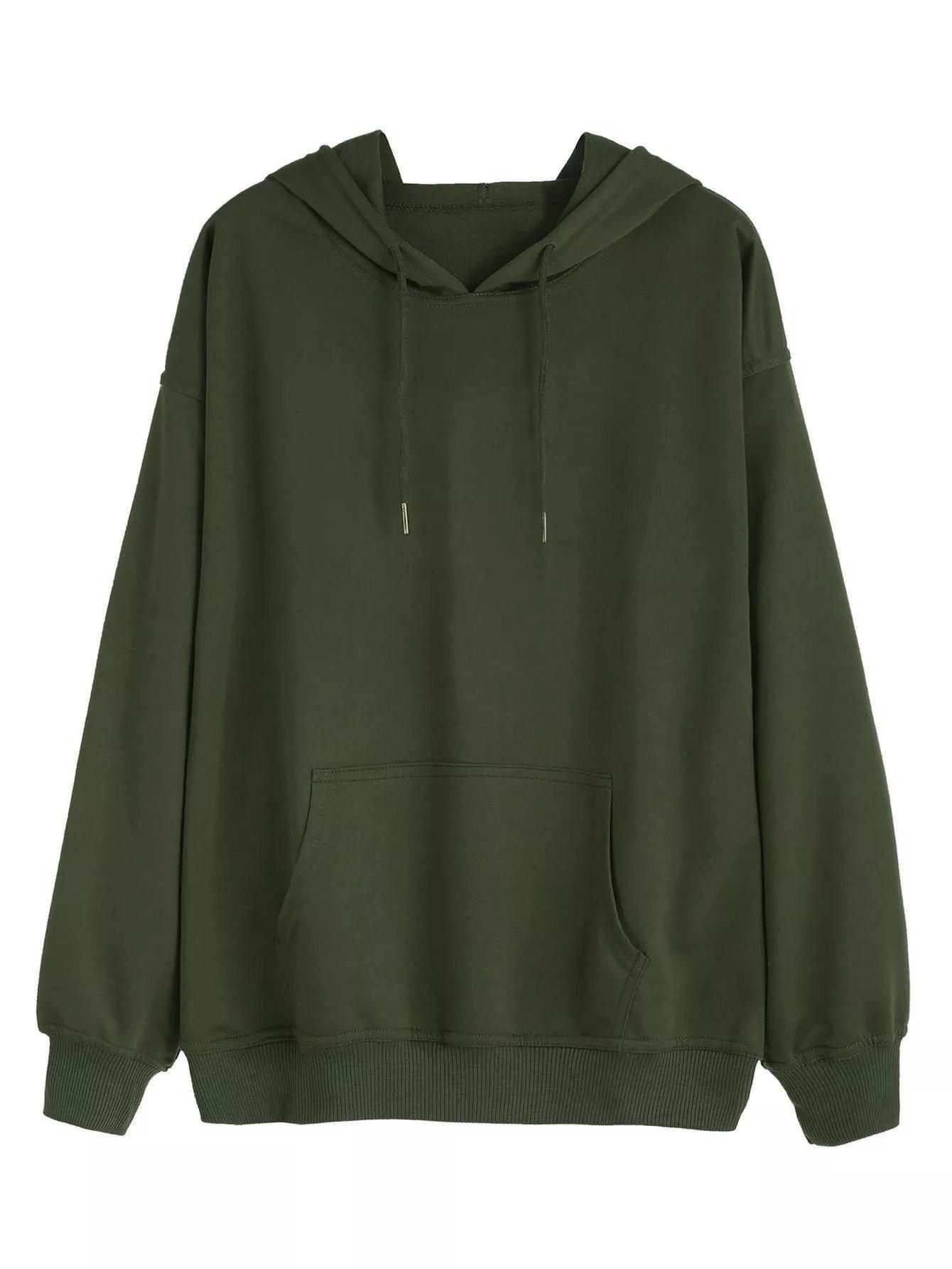 Plus Drawstring Detail Hooded Sweatshirt