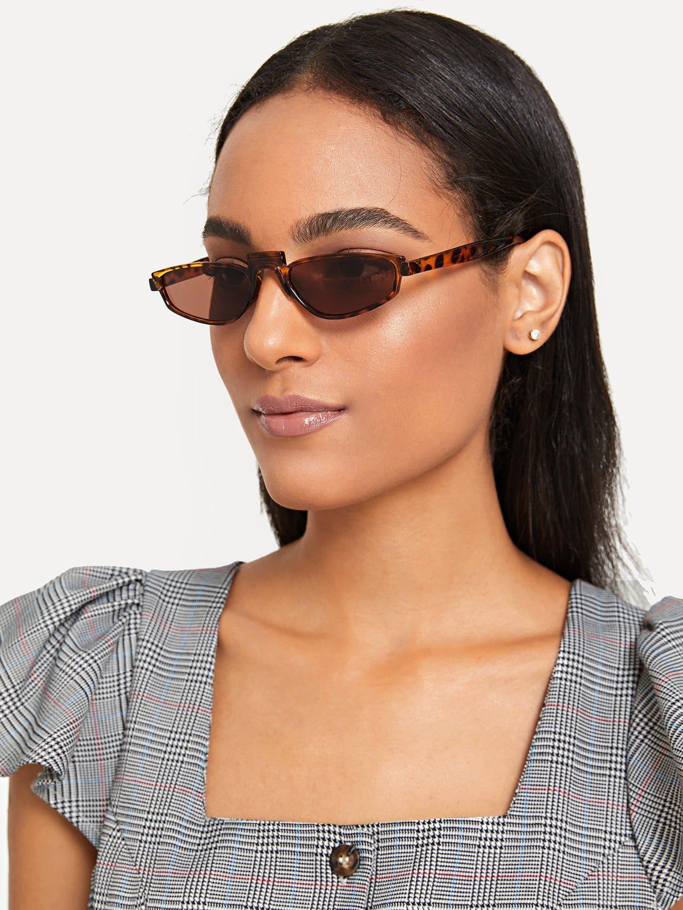 Купить Солнцезащитные очки для очков Leopard, null, SheIn