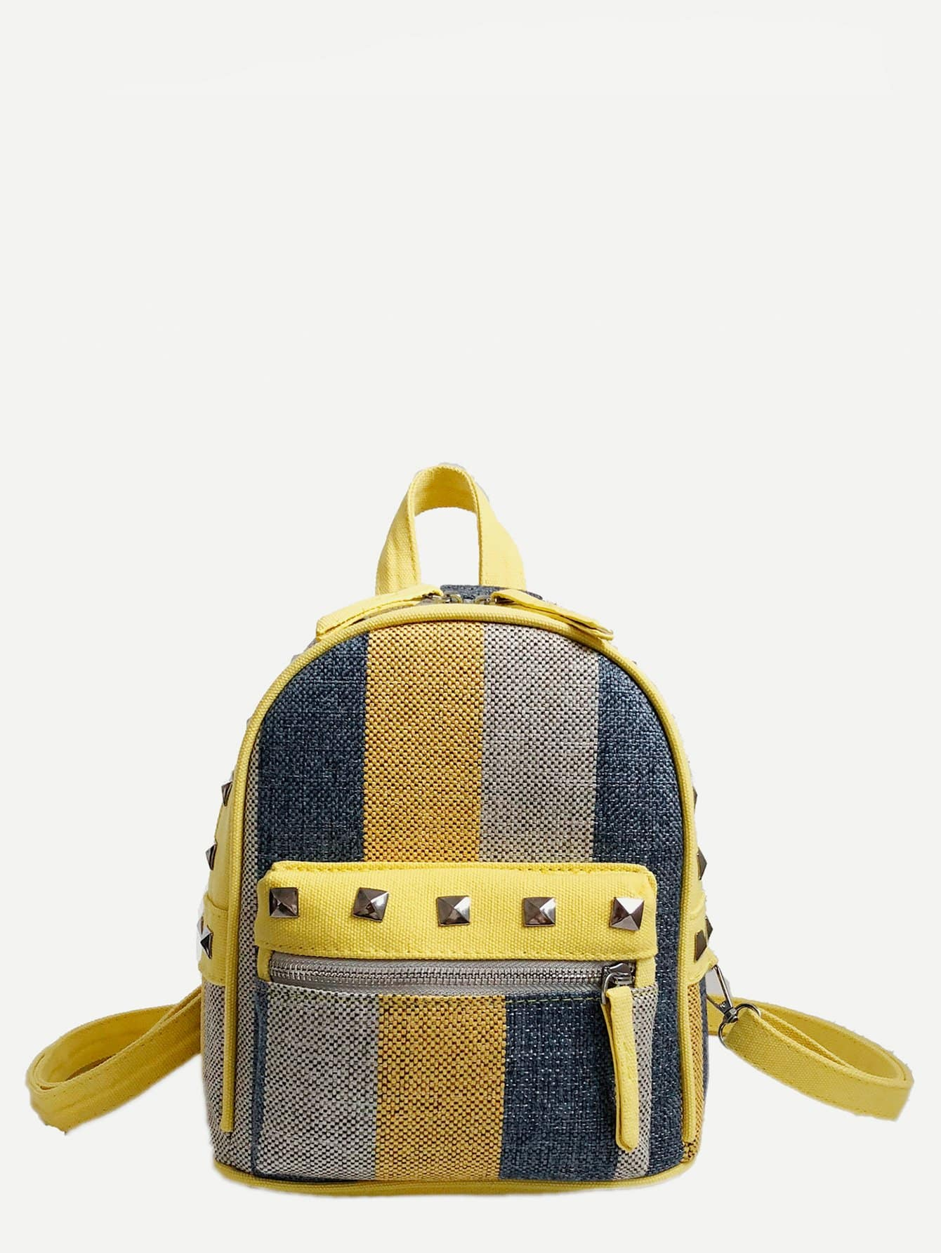 Купить Шипованный декор цветной рюкзак, null, SheIn