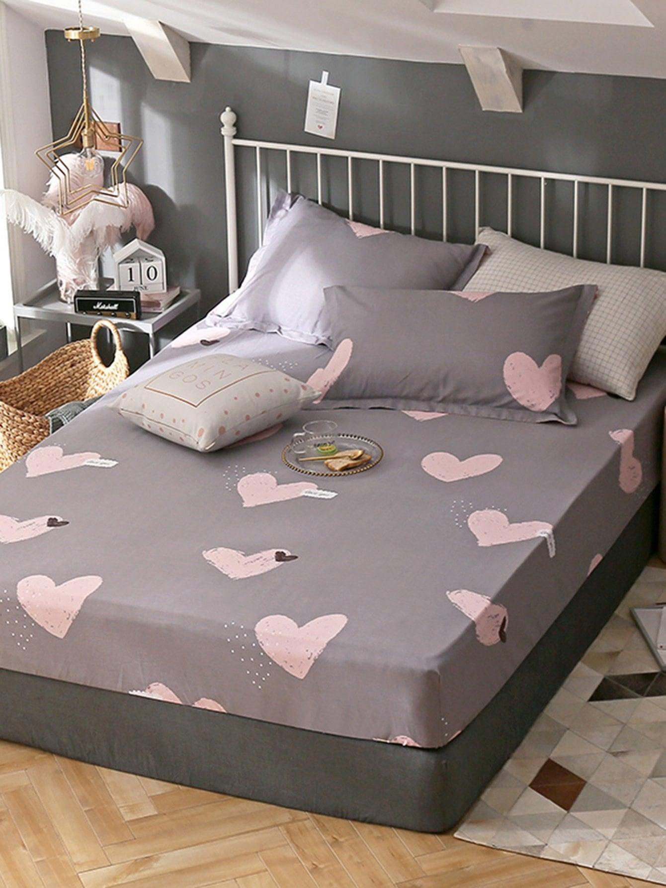 Купить Удобное постельное бельё с рисунками седцей 1 шт, null, SheIn