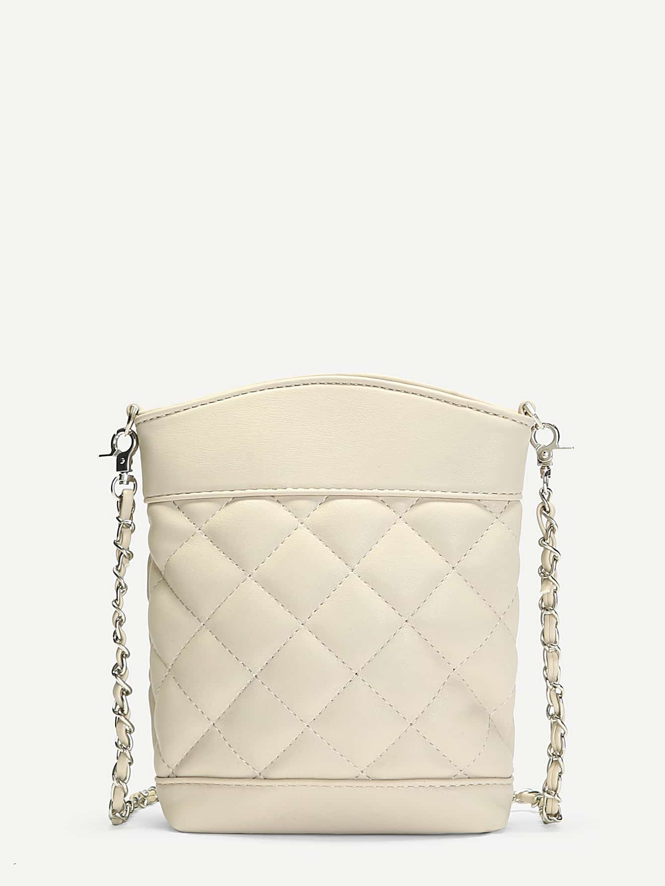 Quilted PU Crossbody Chain Bag
