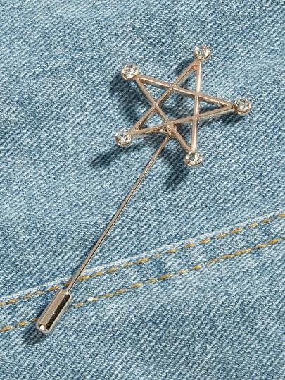 Men Open Star Design Pin