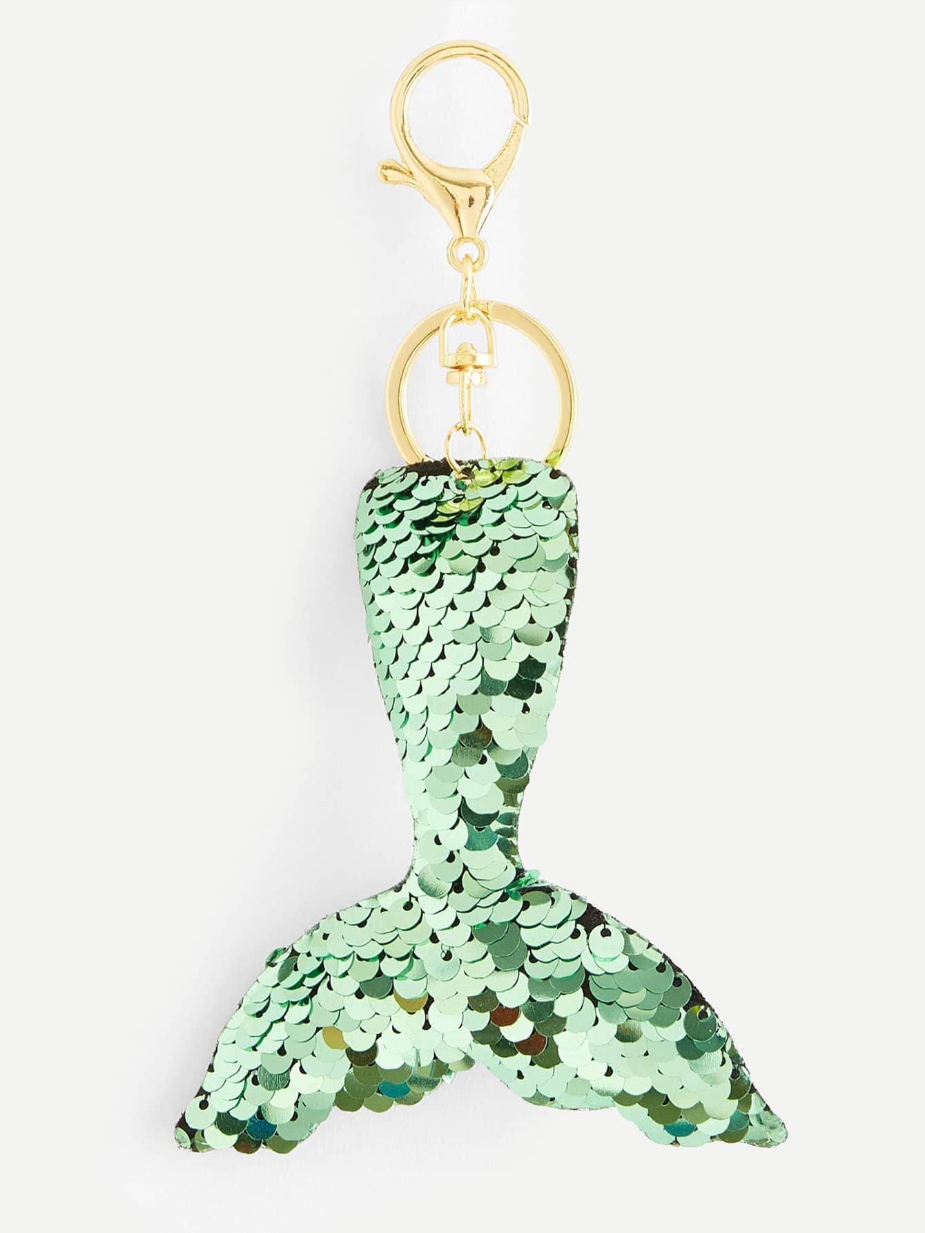 Купить Брелок для ключей в форме рыбьего хвоста пайетки, null, SheIn
