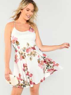 Sleeveless Floral Mini Dress