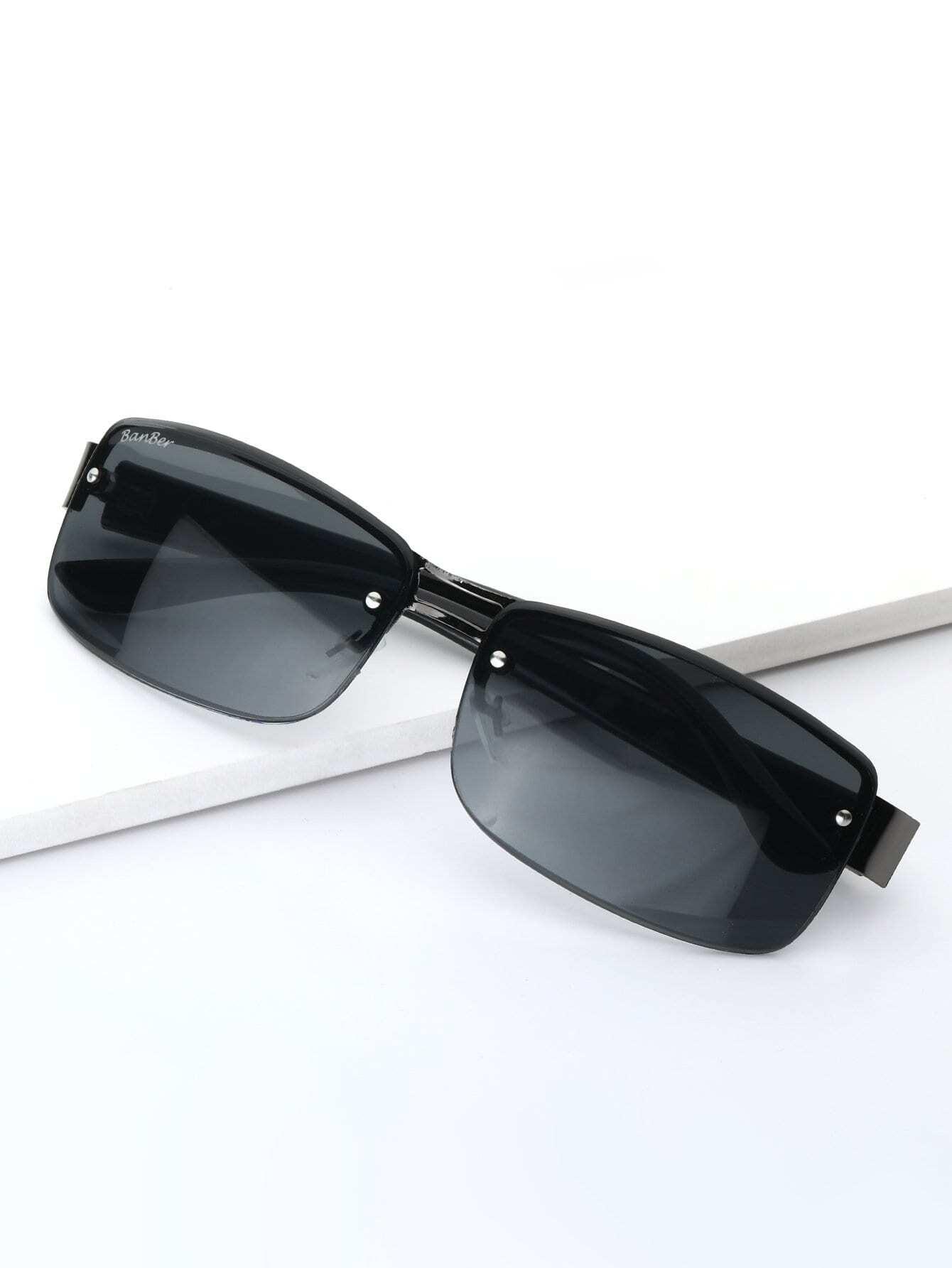 Мужчины Без Оправы Солнцезащитные Очки