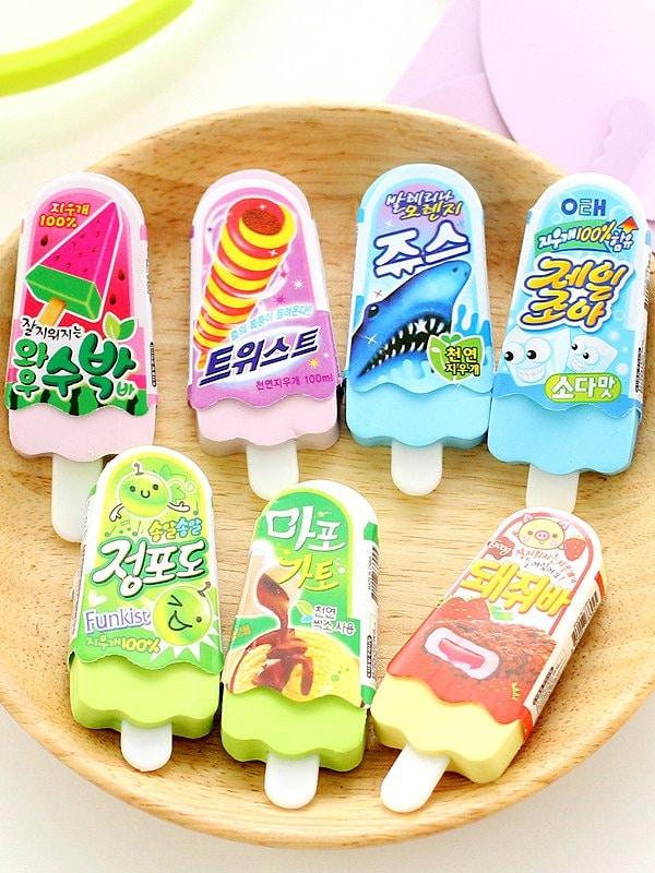 Купить Случайный цветной ластик в форме мороженого ня палочки 1 шт., null, SheIn